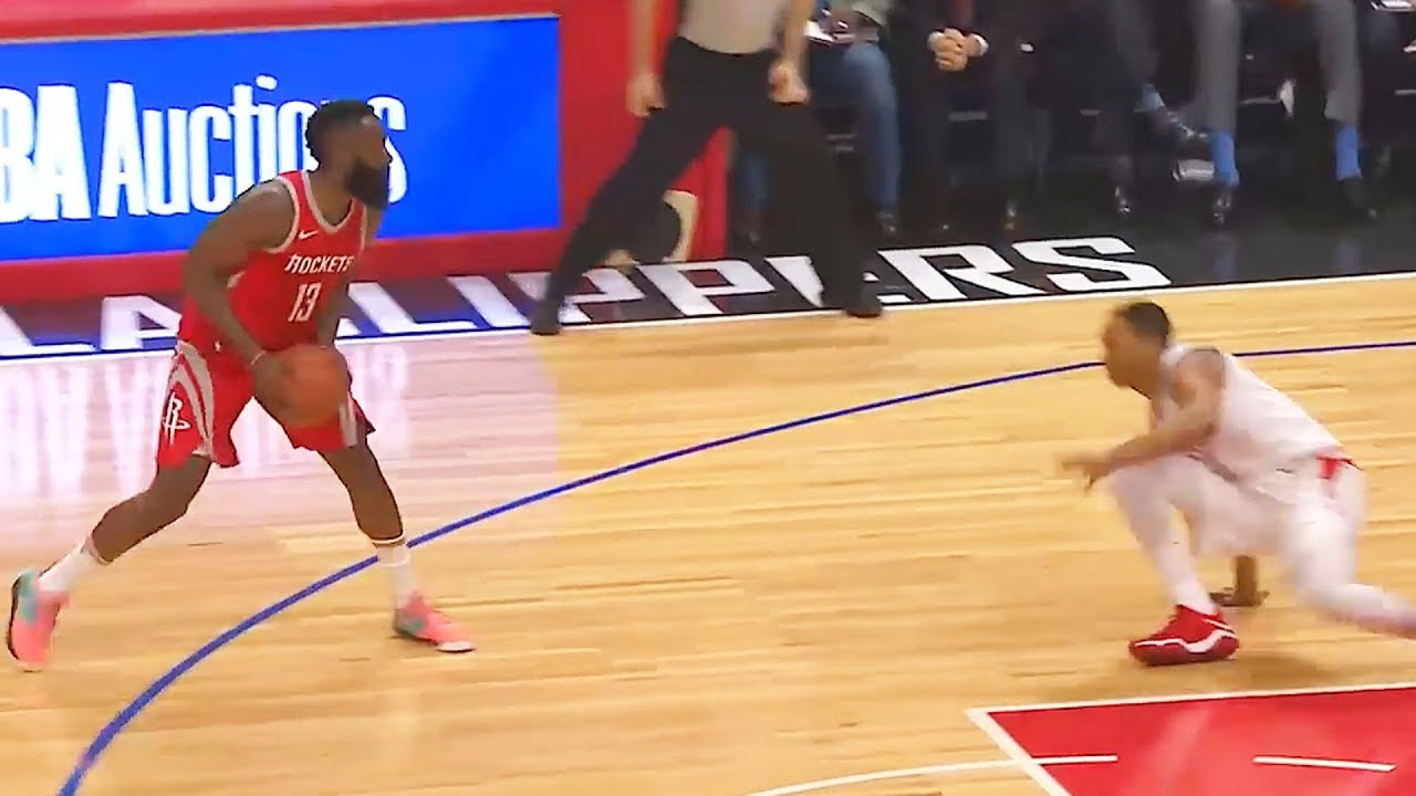 1a7197318e7 James Harden BREAKS WESLEY JOHNSON S ANKLES THEN STARES HIM DOWN ...