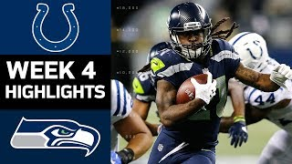 Colts vs. Seahawks | NFL Week 4 Game Highlights