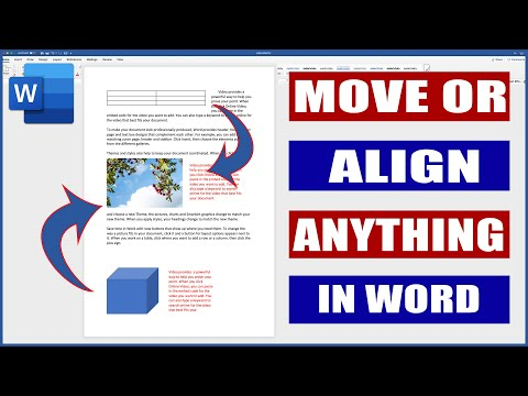 How to Move or Align Anything in Word | Microsoft Word Tutorials