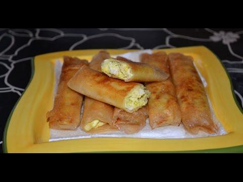 بريك ملسوقة صوابع - صوابع فاطمة - Brick recotte المطبخ التونسي زكية -Tunisian Cuisin ZAKIA