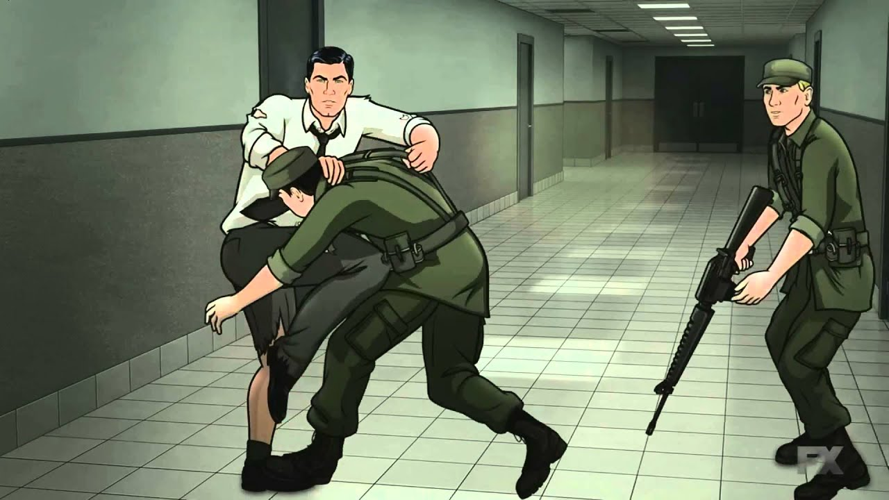 Archer - fight scene @ Air Force Base - YouTube