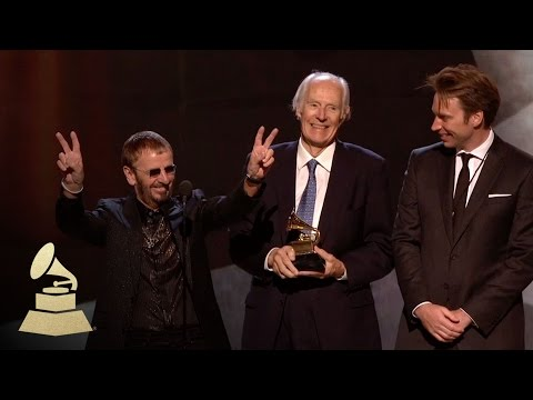 Sir George Martin Wins GRAMMY for Beatles Love Soundtrack | 50th GRAMMY Awards