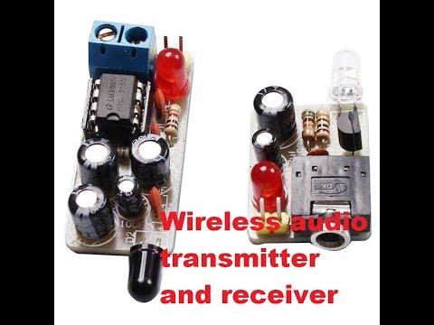 Cheap diy wireless audio IR sound transmitter and receiver