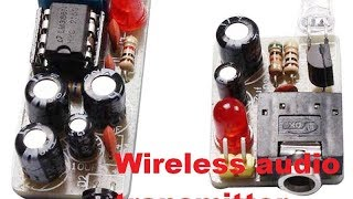 Cheap diy wireless audio IR sound transmitter and receiver