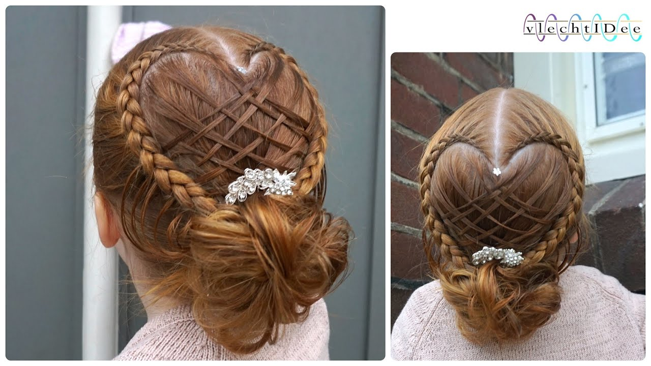 Basket Woven Heart Updo Holiday Hairstyle