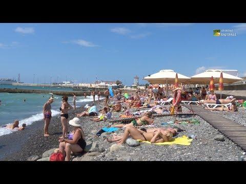 Sochi City Beach Russia August 2017