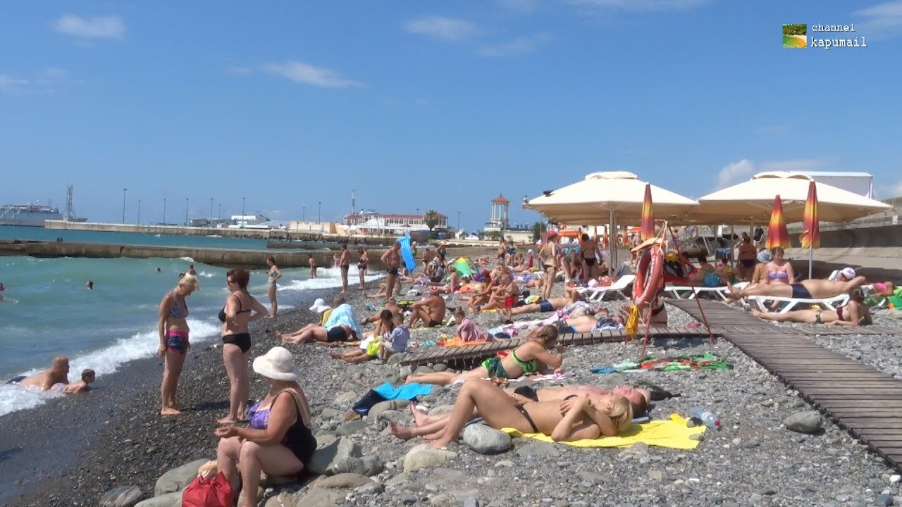 Sochi City Beach Russia August