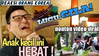 REAKSI ORANG KOREA VIDEO LUCU VIRAL anak kecil telponan diputusin pacar dising orang