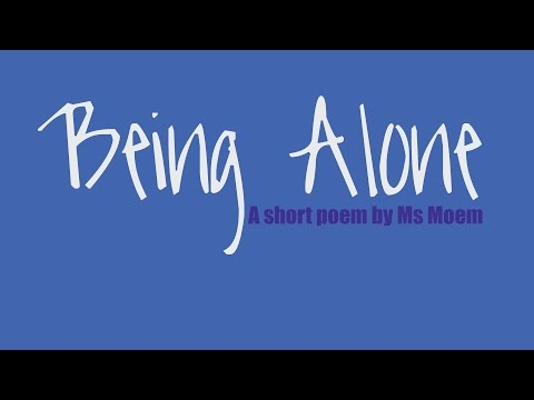 being alone   short poem