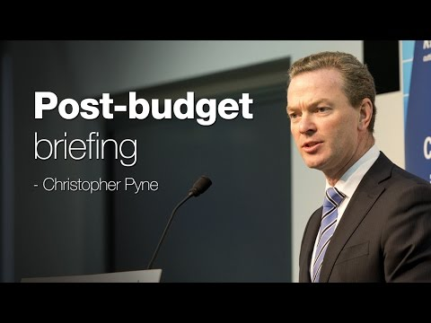 Post-budget briefing: Federal Education Minister, the Hon Christopher Pyne