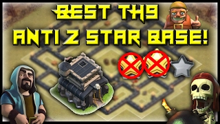BEST ANTI 2 STAR TH9 WAR BASE! BE THE MVP IN WAR! - Clash Of Clans Base Build