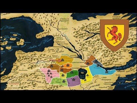 Mapa de Las Casas de las Tierras de los Ríos - ASOIAF