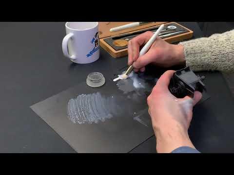 Artis Opus Series D - Dampening Pad Usage & Technique Tutorial - Star Wars Legion - Dry Brushing