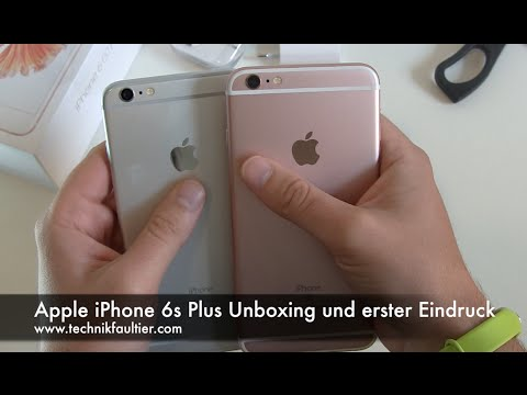 Apple iPhone 6s Plus Rosa Unboxing und erster Eindruck