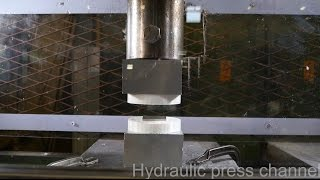 Pressing two repelling neodymium magnets together with hydraulic press