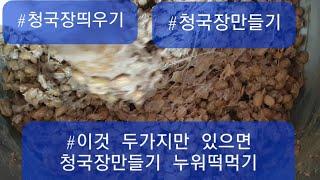 #청국장만들기  신의한수 배우다. #이것 두가지만 있으…