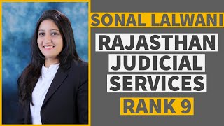 How to clear Rajasthan Judicial Services (RJS) Ft. Sonal Lalwani, Rank-9 [In Hindi]