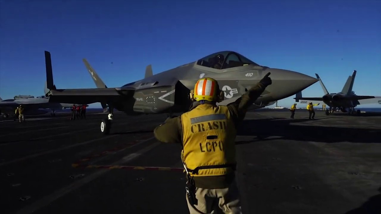 F 35C Lightning II Flight Operations Aboard the USS Carl Vinson