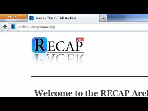 Jenkins Law Library Tip of the Week (Episode 201218): RECAP Archive