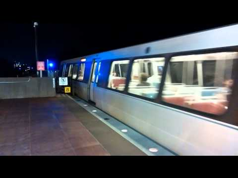 WMATA Metrorail - Alstom 6000 Series #6158 On The Red Line Departing Twinbrook [Mobile Video]