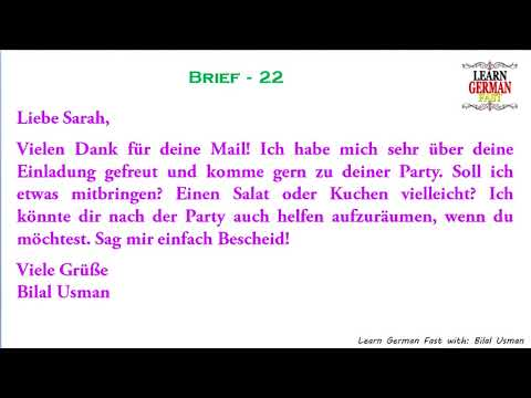 German Brief 22