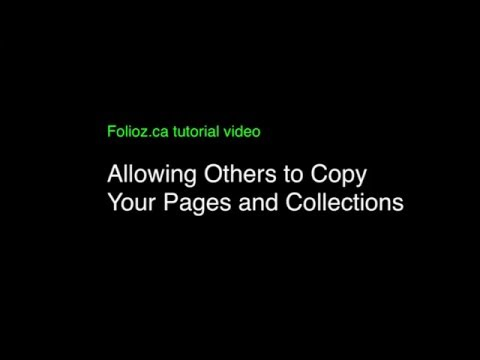 Tutorial Fourteen:  Copying Personal Pages and Collections