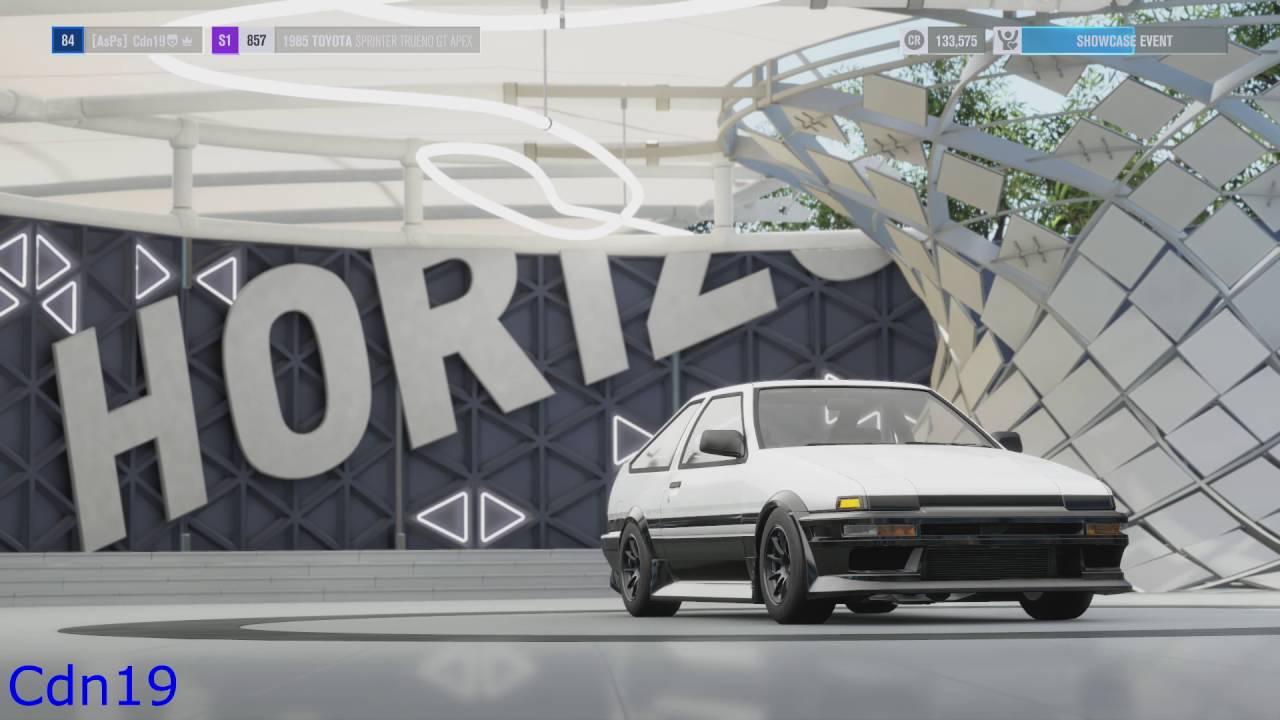 Forza Horizon 3 Toyota Sprinter Trueno GT APEX Drift Build