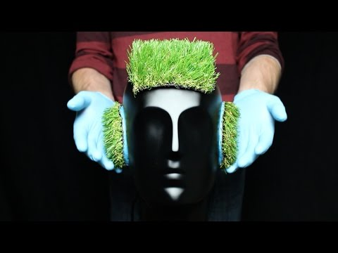 ASMR 3D Binaural Head Artificial Grass Cut, Head Massage wit