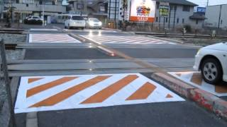 山陽本線・東岡山駅構内【窪田踏切】(平成27年2月11日)