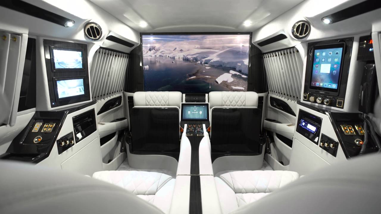 Luxury Cadillac Escalade Sky Captain Piano Edition Mobile Office By Lexani Motorcars