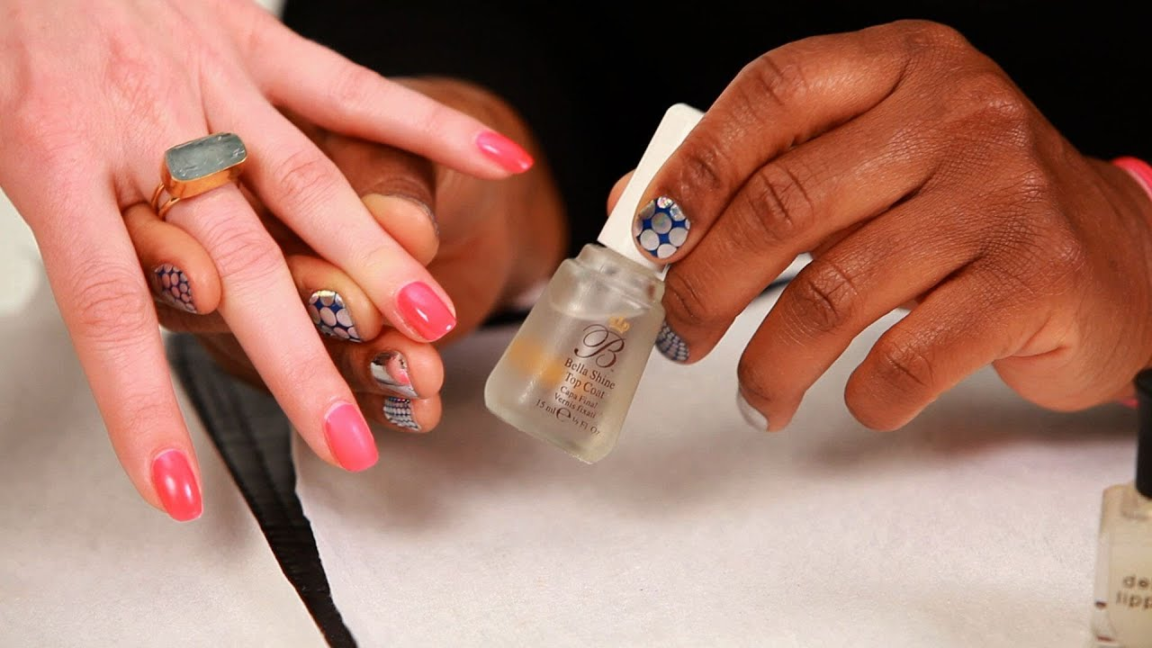 How to Apply a Nail Polish Top Coat | Manicure Tutorials - YouTube