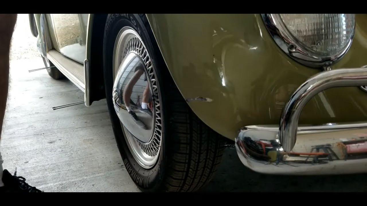 VW Bug fender repair spot painting and blending clear coat
