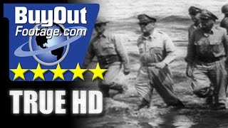 HD Historic Stock Footage WWII BATAAN DEATH MARCH | MACARTHUR RETURNS TO PHILIPPINES