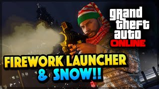 GTA 5 Christmas Update - NEW Firework Launcher & Snow! (GTA 5 PS4)
