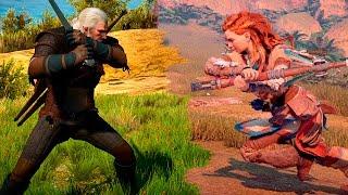 Horizon Zero Dawn VS The Witcher III Ultra | GRAPHICS COMPARISON | Comparativa
