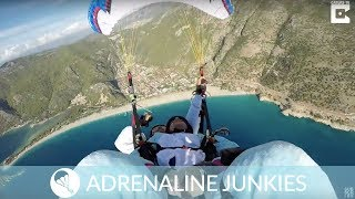 Paragliders Complete Midair Somersaults