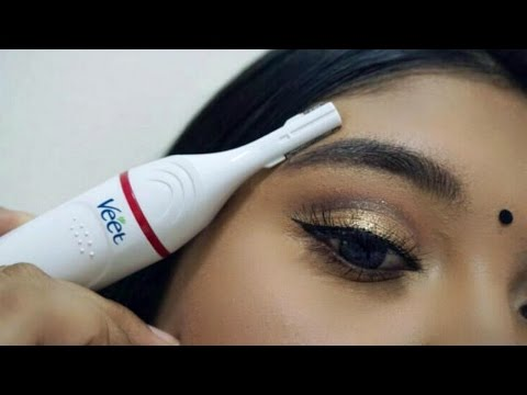 Thumbnail: How to Shape, Groom & Trim Your Brows | Veet Senstive Touch | Demo & Review | DaintyDashBeauty