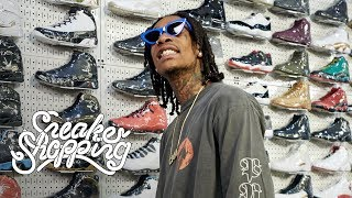Wiz Khalifa Goes Sneaker Shopping With C...