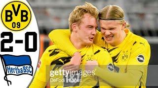 Боруссия Дортмунд Герта 2 0 Обзор Матча Чемпионата Германии 13 03 2021 HD