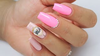 Neon LOVELY jeweled nails / FunLac