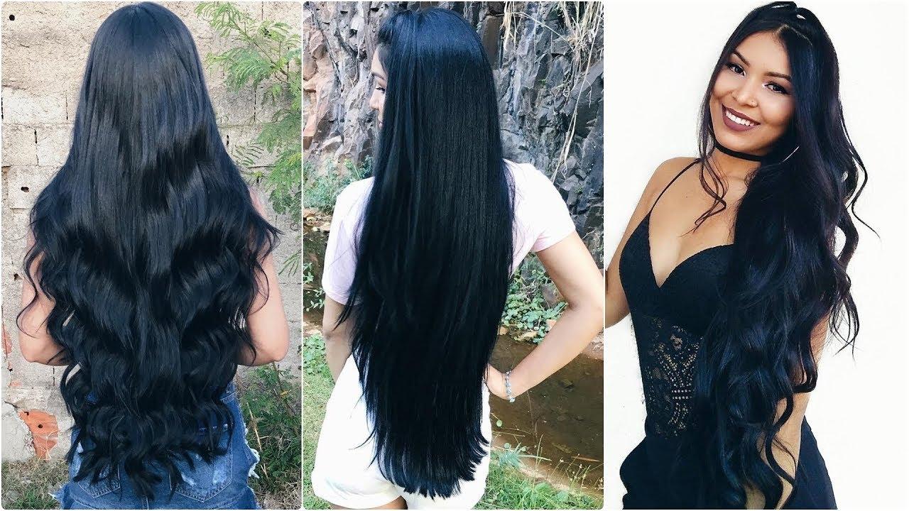 Wonderful Long Silky Black Hair by Thêskah Oliveira (Playing & Pretty Curls)