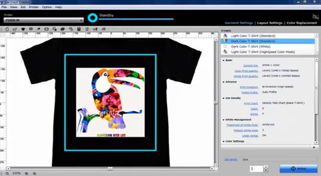 Epson DTG Software - Garment Creator