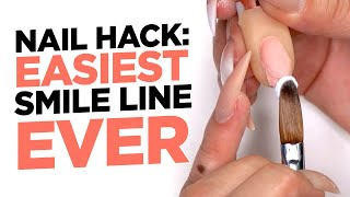 Nail Hack: Easiest Smile Line Ever