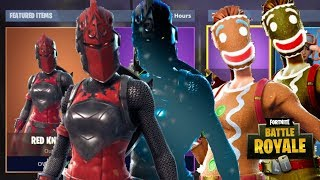 NEW CHRISTMAS SKIN CUSTOMIZABLE VARIANTS IN FORTNITE (Ginger Gunner & Red Knight Customize Styles)