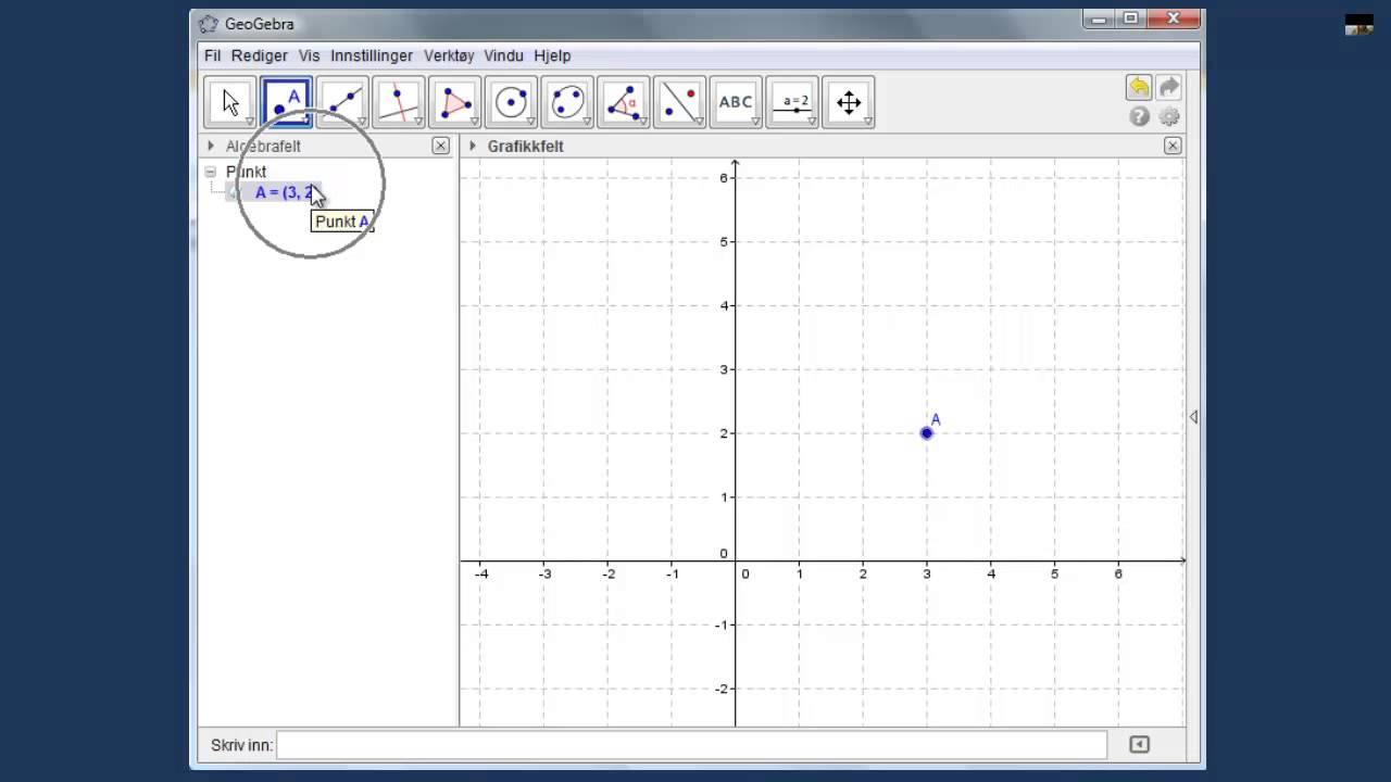 Koordinatsystemet og plassering av koordinater