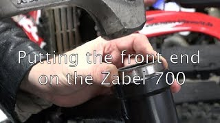 Zabel 700 Dirtbike Build Part 6: Putting on the front end