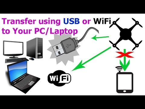 DJI Phantom 3 - Transfer Video & Photo Files Using USB Cable & WiFi FTP, No SD Card Removal