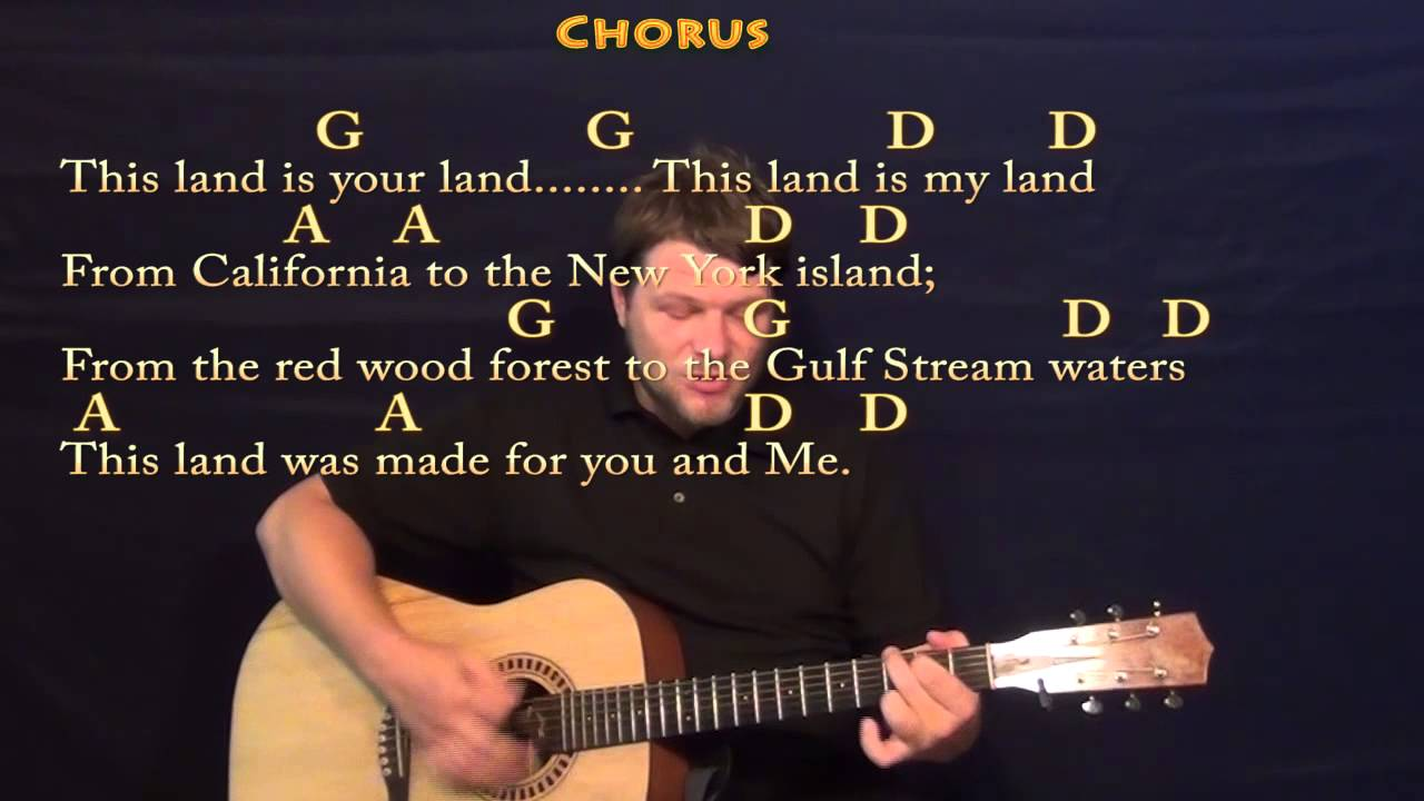 This Land Is Your Land Woody Guthrie Strum Guitar Cover Lesson