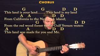 This Land Is Your Land (Woody Guthrie) Strum Guitar Cover Lesson