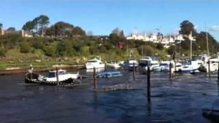 Tsunami rocks boats in Santa Cruz harbor